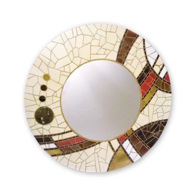 espejo mosaico redondo