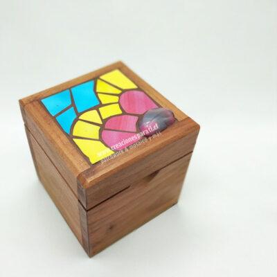 caja té 1 espacio mosaico tapa corazón