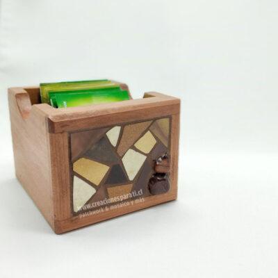 caja té mosaico café