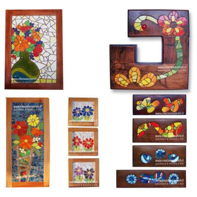 cuadros-mosaico-colores-flores