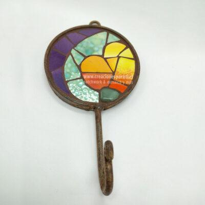 percha redonda corazón mosaico