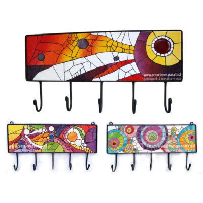 percheros mosaico colores diseño