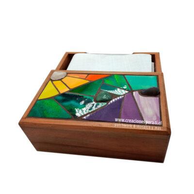 servilletero grande mosaico colores