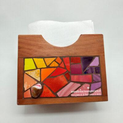 servilletero pequeño mosaico colores